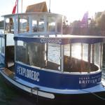 ビクトリアのインナーハーバーを海上移動。ビクトリアハーバーフェリー