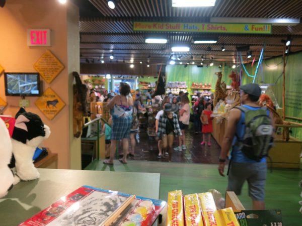 閉園間際は混みあうお店ですが、レジで長時間並ぶ、というレベルではありません。