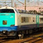Intercity train between Niigata and Kanazawa. Limited Express Hokuetsu