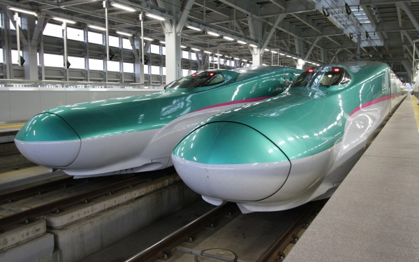 Tohoku Shinkansen E5 series run mostly as Hayabusa and Hayate. These trains have only reserved seat. You cannot take this train without seat reservation.