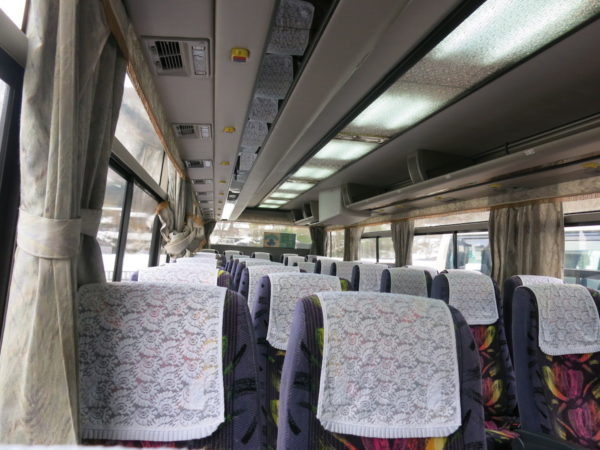 Interior of Kaetsuno Bus
