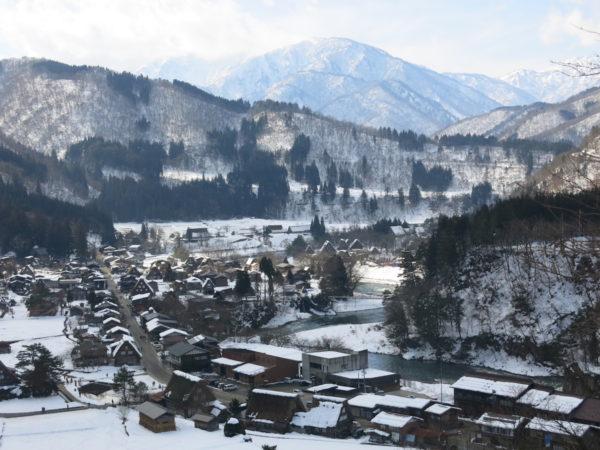 Very popular scene of Shirakawago from Tenshukaku view point