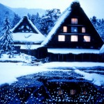 Shirakawa-go in winter (白川郷)