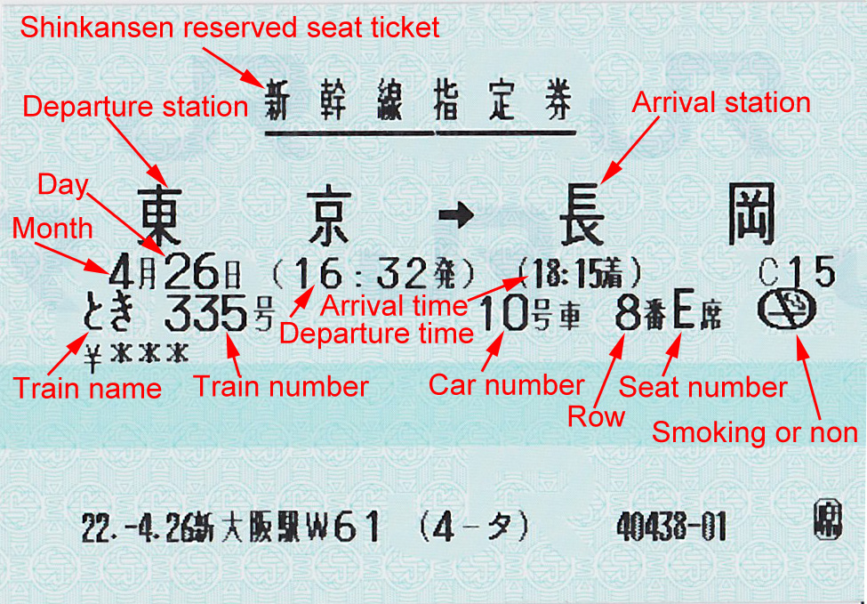 How to read Japan Railway's reserved seat ticket – JPRail ...