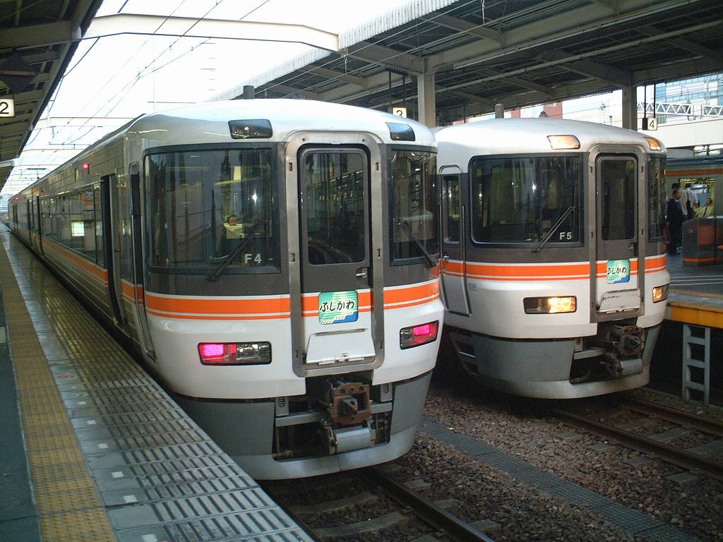 JR Tokai 373 series is used for Limited express Fujikawa.