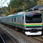 Train to Shonan, Odawara and Atami with no surcharge from Tokyo. Rapid train on Tokaido line