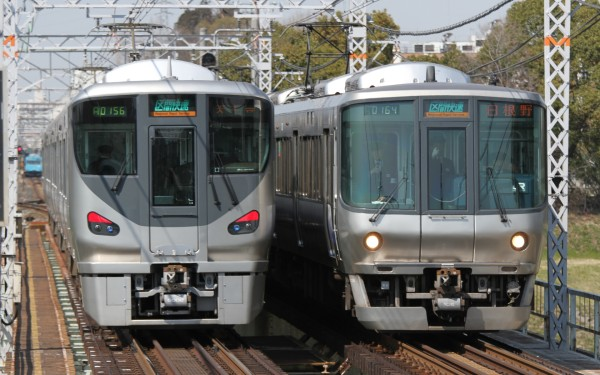 Typical Rapid Service trains (JR West 223 and 225 series)