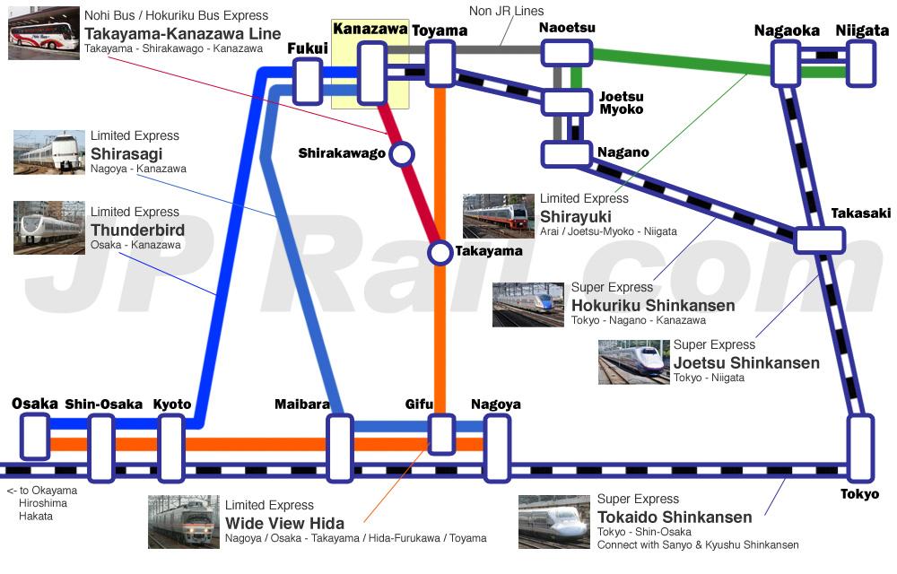 How to access to Kanazawa and Toyama from Tokyo Osaka Kyoto