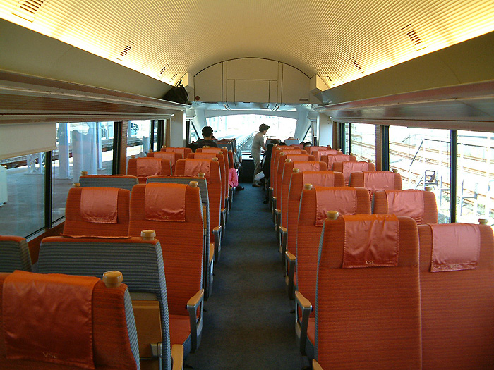Interior of Odakyu Romancecar 50000 series. (C) Sonic Rail Garden