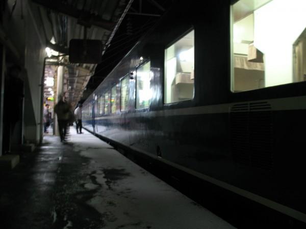 Overnight train Hamanasu at Aomori station