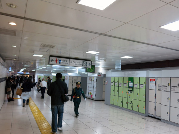 There are huge number of coin lockers at Tokyo station. But it is very hard to find empty one in daytime.