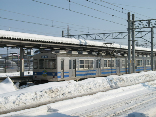 Konan Railway is located at northernmost in all electric private railways in Japan. (C) JP Rail