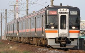 KIHA 75 series runs as Rapid train Mie from Nagoya to Ise.