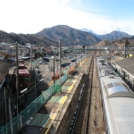 Otsuki station guide. How to transfer from JR train to Fuji Kyuko train.