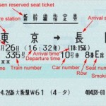 How to read Japan Railway's reserved seat ticket
