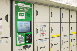 Suica can be used for even coin operated locker. (C) Tennen-Gas / Creative Commons
