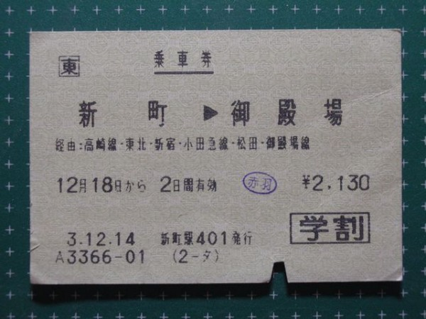 Typical JR ticket is like this.