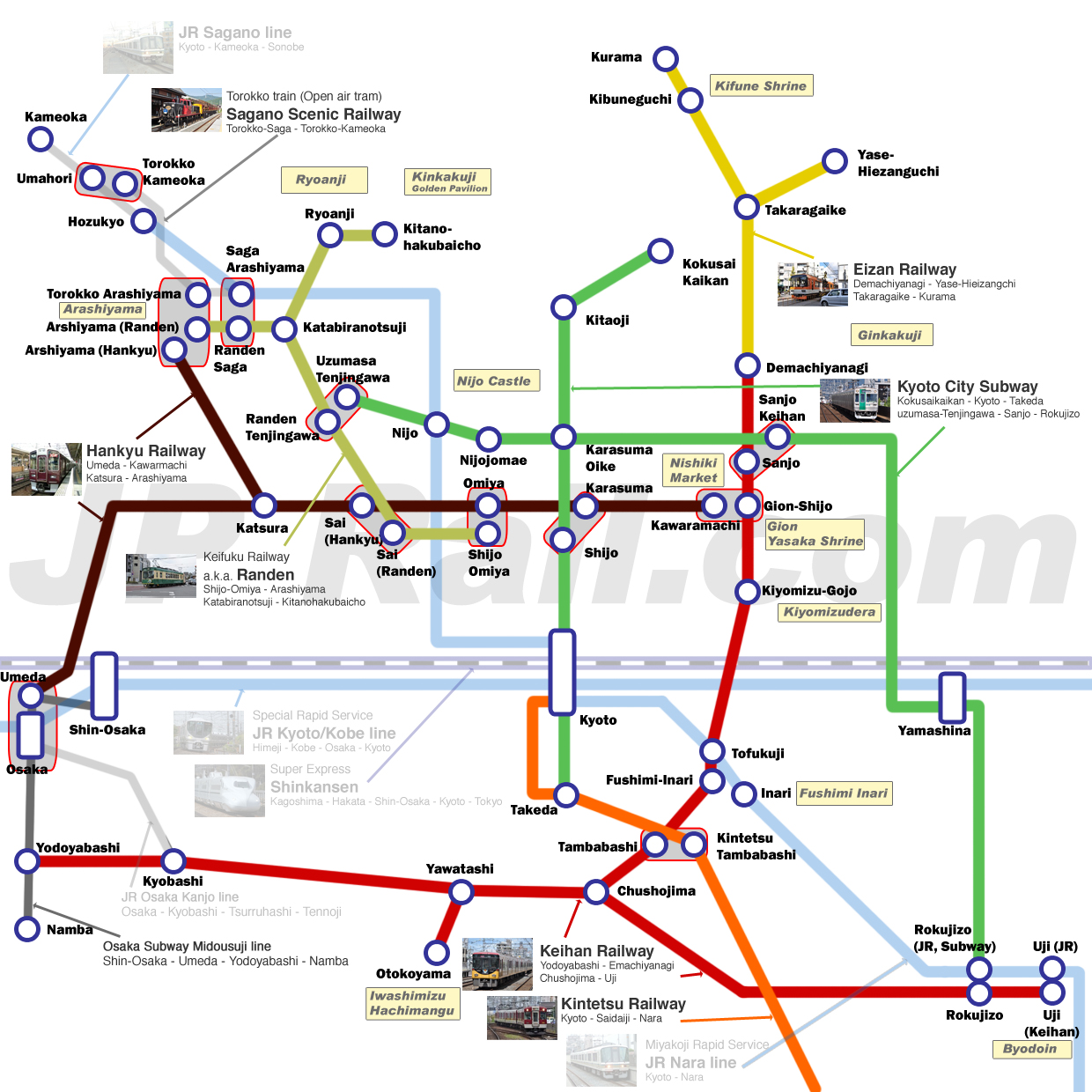 Guide To Take Trains In Kyoto How To Choose The Best Route By - Japan jr map osaka