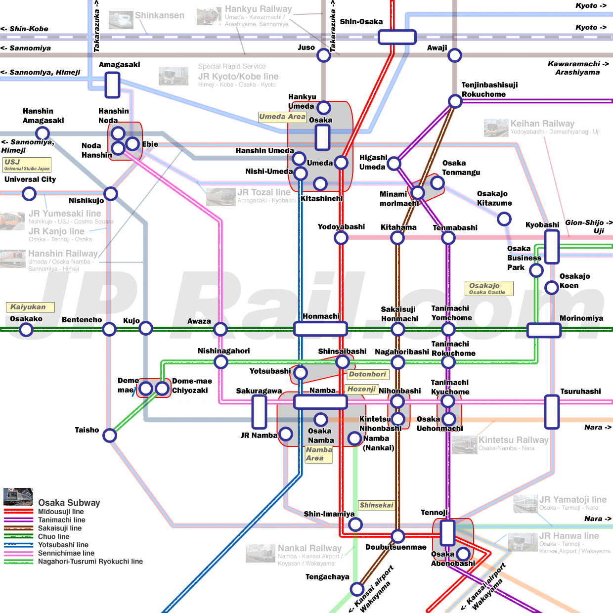Guide To Take Trains In Osaka How To Choose The Best Route By - Japan jr map osaka