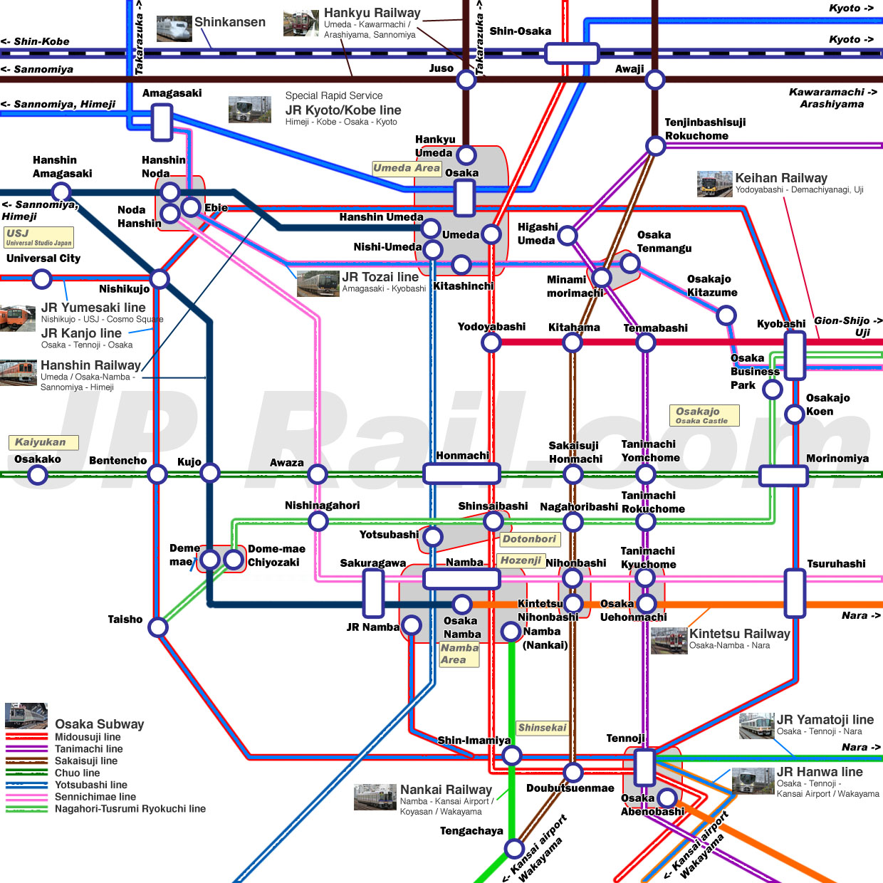 Guide to take trains in Osaka How to choose the best route by train