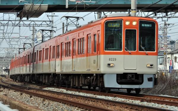 Hanshin Railway connects Umeda and Kobe. The train go through Sanyo Railway to Sanyo-Himeji station.