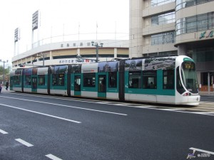 Street car is most popular transportation in city of Hiroshima. ©Hiroshima Convention & Visitors Bureau