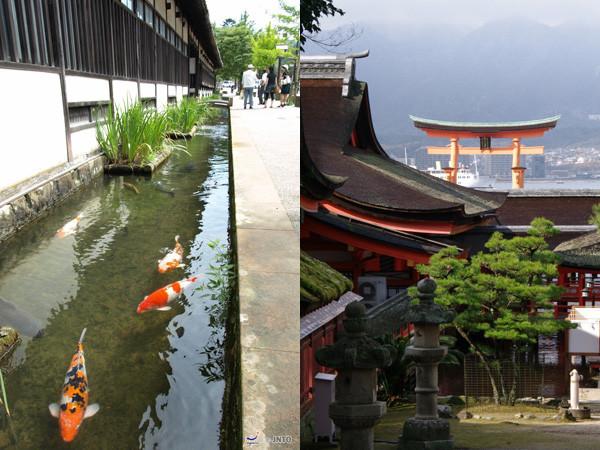 Tsuwano (left) and Miyajima are popular place to visit in the coverage area. ©Shimane Prefectural Goverment/©JNTO (Tsuwano/left) / ©Yasufumi Nishi/©JNTO (Miyajima/right)