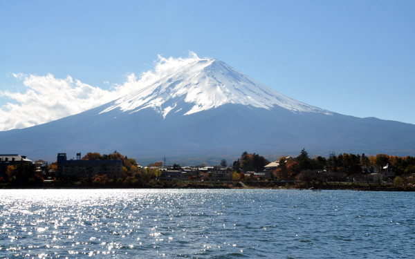 View of Mt Fuji from Lake Kawaguchi