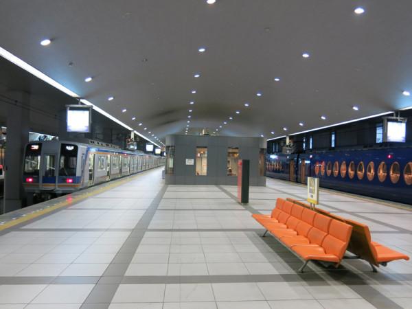 Nankai Railway's platform