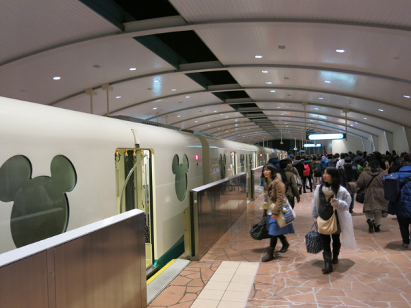 Disney Resort Line train at Resort Gateway station near JR Maihama station.