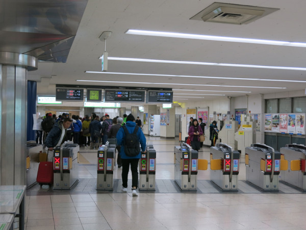 Ticket gate at west side