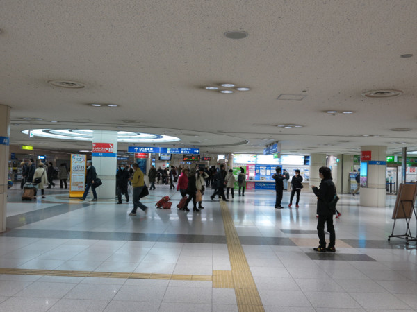 JR Namba station ticket gate and ticket vending machine.