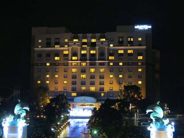 The exterior of Hotel Okura Tokyo Bay.