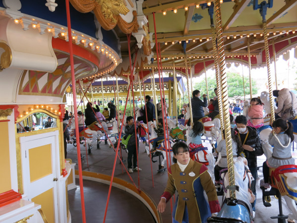 Carousel ride is always popular for small girls.