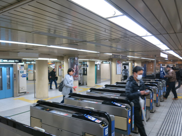 West ticket gate of Hankyu Railway Kobe-Sannomiya station