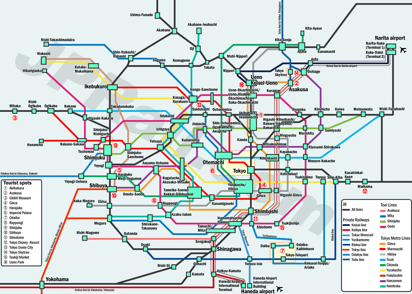 Guide to take trains in Tokyo How to choose the best deal and the
