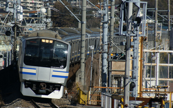 Rapid train on Sobu Yokosuka line