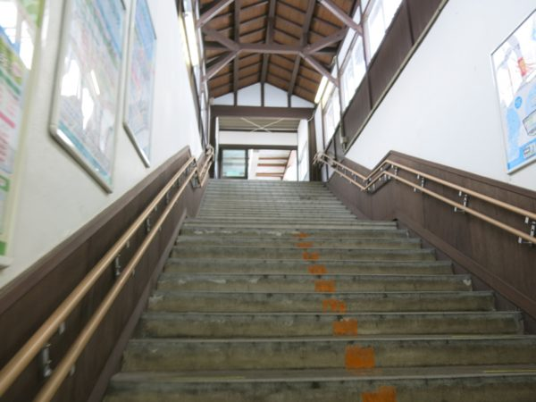 The stairs to the platform