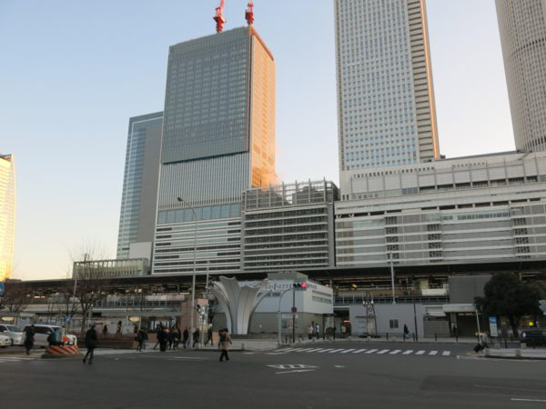 It was a beautiful day when I left Nagoya station.