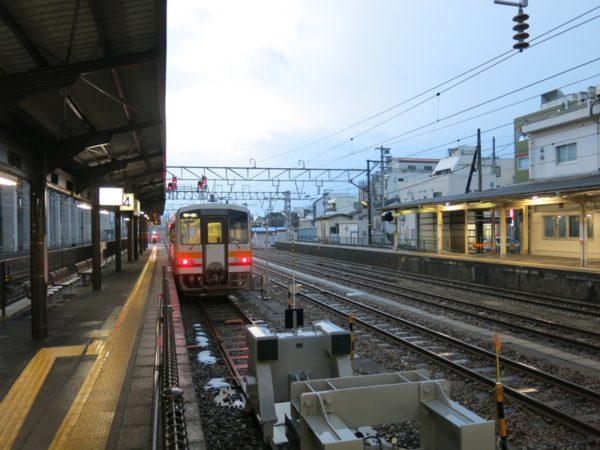 Local train arrived at Itoigawa station.