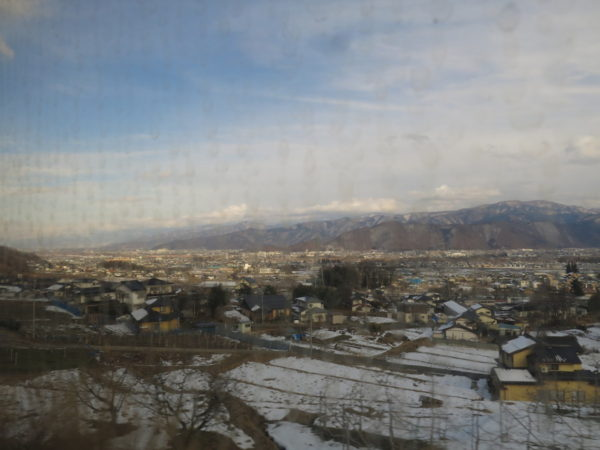 The view from Obasute station. It does not seem to be amazing. But if you see it in the night. you can enjoy superb view.