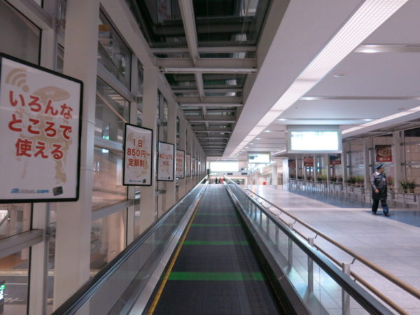 The walkway to Access Plaza