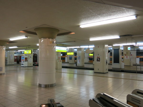 Kintetsu Nagoya station platform from Underground ticket gate