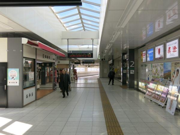 Walkway inside the ticket gate
