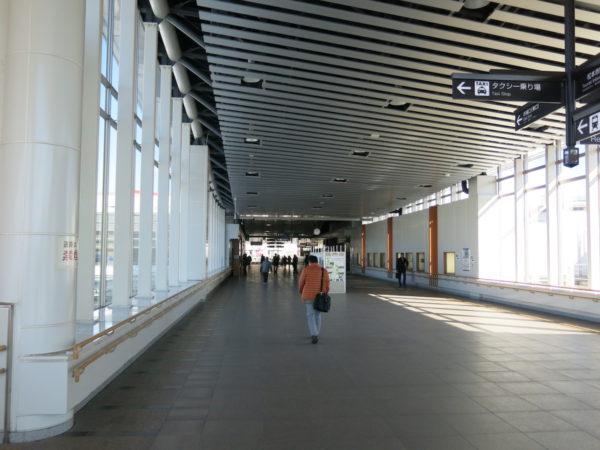 Walkway outside the ticket gate is open for public.