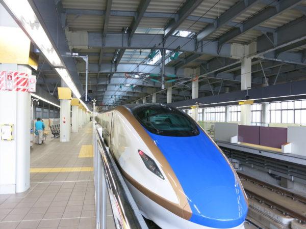 At Shinkansen platform, track #12