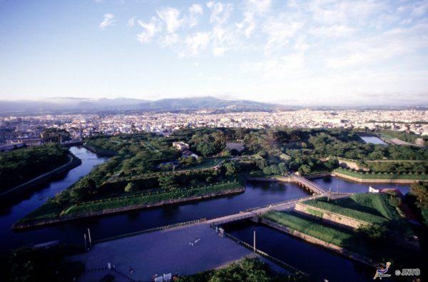 Aerial view of Fort Goryokaku (C) JNTO