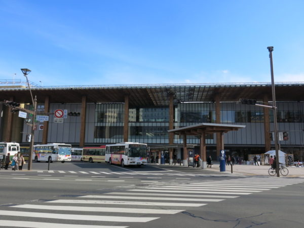 Exterior of Nagano station from Zenkoji-guchi side